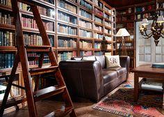 Boknäs kirjastohuone Bookshelves, Bookcase, World Of Books, Finding Joy, Couch, Living Room, Furniture, Home Decor, Interiors