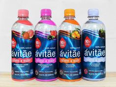 Unlike those blankets with sleeves, when it comes to caffeine and flavors, one size does not necessarily fit all. So Avitae comes in three caffeine water levels and flavors including Pomegranate Açai, Tangerine, Blackberry and Strawberry Guava.