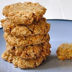 Healthy, simple Anzac Biscuits! Easy to make, whole ingredients and delicious.