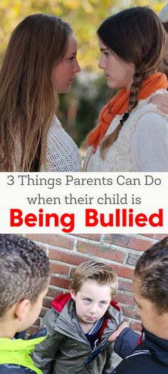 While we would love to be able to protect our children from everything, it's impossible. However, here are 3 important things parents can do when their child is being bullied. | bullying | dealing with a bully | how to deal with a bully at school