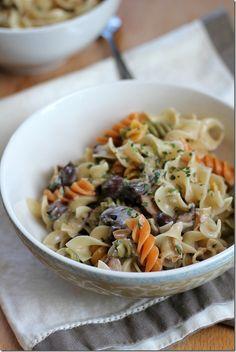 pasta with simple mushroom sauce