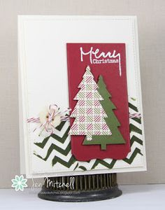 Merry Christmas card, Freshly Made Sketches, Mixed Media Card Challenge, Paper Players, Verve, I Create