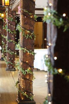 This barn wedding decor is so lovely! - This barn wedding decor is so lovely! – Wedding – – This barn - Winter Wedding Decorations, Reception Decorations, Wedding Themes, Wedding Colors, Christmas Lights Wedding, Winter Weddings, Winter Wedding Ideas Diy, Reception Ideas, Wedding With Lights
