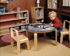 Top: Birch Ply with Black Laminated Chalkboard Surface; Legs: Ply,Woody Chalkboard Table, Offi, Table, Play