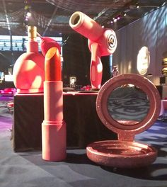 Giant Lipstick Prop - Red/Pink, Fashion Theme Prop Hire