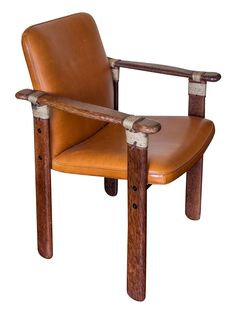 Messina Palmwood & Leather Dining Chair