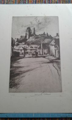 Corte castle, pencil signed print of etching by Margaret Dobson by MarysCuriosityStore on Etsy Living In England, Sign Printing, Bookmarks, I Shop, Castle, Pencil, Handmade Gifts, Painting, Etsy
