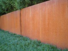cor-ten steel wall