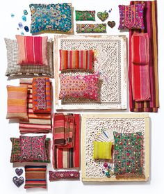 pattern on pattern with bright and bold colours are very much used and seen in Mumbai home decor.