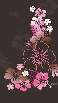Wall paper with browns, pink Love Wallpaper, Colorful Wallpaper, Screen Wallpaper, Mobile Wallpaper, Flower Backgrounds, Wallpaper Backgrounds, Cellphone Wallpaper, Iphone Wallpaper, Hibiscus