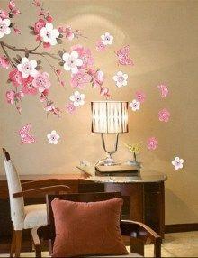 plum-blossom-butterfly-wall-stickers #shopingpartner #wallsticker #wallart