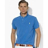 $85 Polo Ralph Lauren Classic-Fit Short-Sleeved Mesh Cotton Polo
