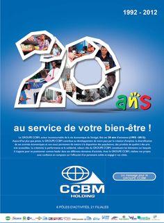 newsletter du groupe CCBM holding pour célébrer leur 20 ans (octobre 2012)