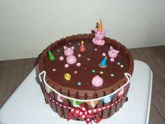 Varkentjes in de modder verjaardagstaart