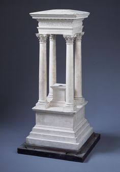 Model of a monument at Palmyra, Syria, Probably by Jean-Pierre Fouquet (1752-1829) and François Fouquet (1787-1870) Paris,1820s  Plaster on metal armature, wooden base.