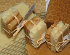 Cold Process Honey Soaps - Each packet has 3 All NATURAL Travel size soap slices on Etsy, $1.55