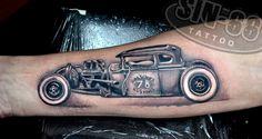 hot rod tattoo / hotrod tattoo