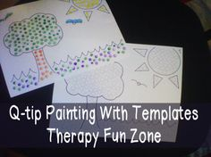 Q tip painting with templates