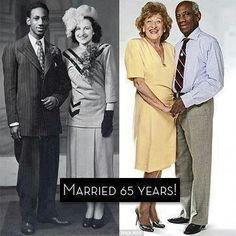 Interracial couple married for 65 years. #loveit