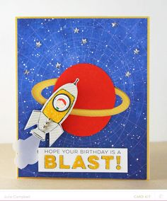 Rocket Spinner Card by Julie Campbell at @studio_calico