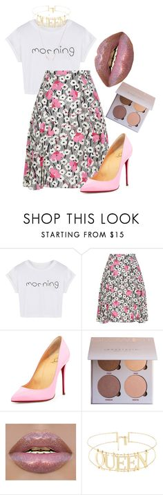"""""""Morning beautiful"""" by hermajestymarie on Polyvore featuring WithChic, Valentino, Christian Louboutin and Kendra Scott"""