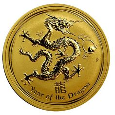 2012 Year of the Dragon Gold Coins - 1 oz. The Perth Mint released the first of… Bullion Coins, Silver Bullion, Silver Investing, Year Of The Dragon, Mint Coins, Gold And Silver Coins, World Coins, Rare Coins, Coin Collecting