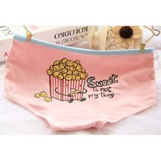 9725db5a5e  Quecoo  Girl Series popcorn cartoon cute cotton underwear ladies underwear  waist cotton underwear briefs