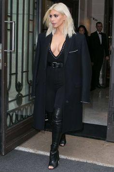 Kim Kardashian as a platinum blonde, March 10, 2015.