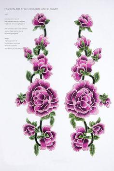 Spitzen-Applikationen bestickte Lotusblüte Patches für