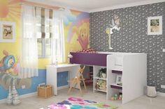 Παιδικό σετ Puzzle Violet Kids Room, Loft, Bed, Furniture, Home Decor, Room Kids, Stream Bed, Room Decor, Child Room