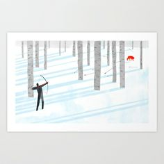 The Long Shot pt.3  Art Print by Keith Negley