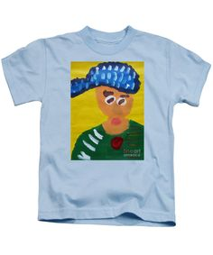 Patrick Francis Designer Kids Light Blue T-Shirt featuring the painting Portrait Of Camille Roulin - After Vincent Van Gogh by Patrick Francis