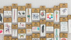 Tattly™ Designy Temporary Tattoos are sold in sets of 2! One for you and a friend.