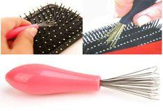 Herramientas de Belleza Peine Cepillo Limpiador Removedor de Limpieza Embedded Mango De Plástico Nuevo 2016