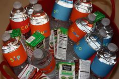 """Phineas and Ferb birthday party  Label an ice chest of water bottles """"Rehydrinators"""" !!"""