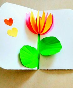 3d lotus pop up card