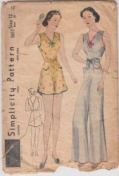 Simplicity Lingerie in the 1930's: the S Series