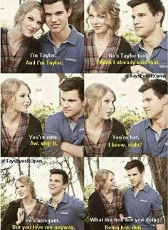 He's the only one who treated her right, and I hate the way it ended! They really need to get back together I absolutely adore Taylor Squared!!