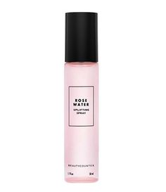 Organic rose essence and purified water will give your skin a dewy glow. // Rosewater Uplifting Spray by Beauty Counter