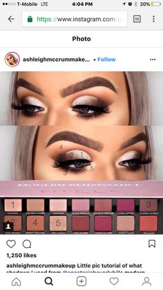 Gorgeous Makeup: Tips and Tricks With Eye Makeup and Eyeshadow – Makeup Design Ideas Makeup 101, Prom Makeup, Makeup Goals, Makeup Inspo, Eyeshadow Makeup, Makeup Inspiration, Eyeshadows, Makeup Products, Makeup Ideas