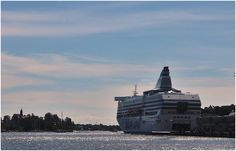 The big ferry leaving for Stockholm from Helsinki