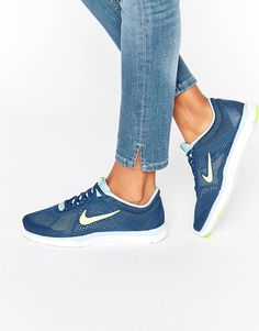 Image 1 of Nike Blue Tr5 Trainers at Asos