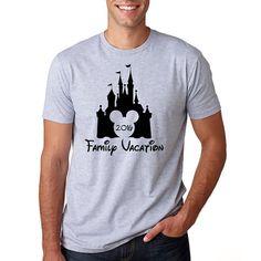 """Disney's """"Family Vacation 2016"""" Shirt // Disney Family Vacation Shirts // Men's Disney Shirt // Plus Size Disney // Family Shirts // Castle"""