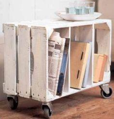 this is a great end-table idea. could probably even stack them.