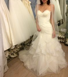 The Suffolk Wedding Dress Exchange is a Bridal Barn in Framlingham, Suffolk selling sample and once worn designer weddding dresses at discounted prices. Bridal Gowns, Wedding Gowns, Fishtail, Ruffles, Size 12, Glamour, Fashion, Bride Dresses, Homecoming Dresses Straps