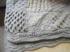 Elsie May and Bertha: Keeping cosy - hand-knitted throws