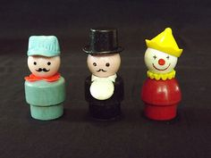 Vintage Fisher Price Little People Circus. I loved that little tuxedoed man. :)
