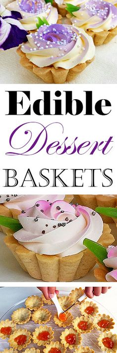 Summer is in full swing and flowers are blooming! They are very pleasant to your eyes, but taste buds as well. #ediblebaskets #beautifuldessert #summer #recipe