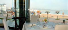Restaurant by the beach in Santander, Spain