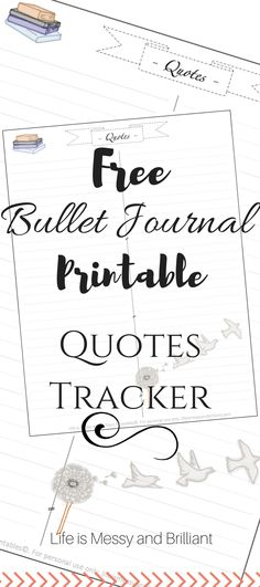 Now that I'm creating a digital version of my bullet journal, I wanted to keep my original quotes layout. #BulletJournal #FreePrintable
